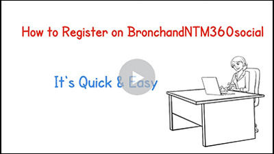 How to register on BronchNTM360social.