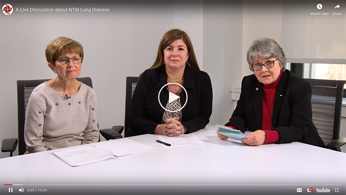 An introduction to NTM Lung Disease. Click to watch the video.